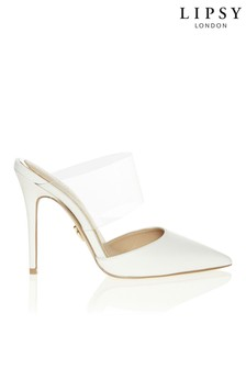 Lipsy Clear Strap Heeled Mules