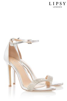 9d0374e5b112 Lipsy Diamanté Barely There Heeled Sandals