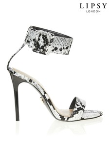 Lipsy Snake Print Cuffed Heeled Sandals