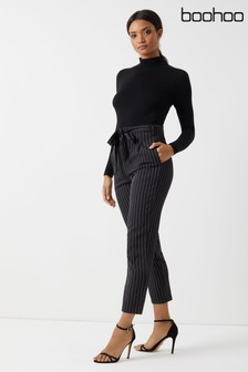 71531bce0e2 Buy Women's trousers Black Black Trousers Boohoo Boohoo from the ...