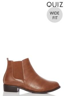 Quiz Wide Fit Chelsea Boot