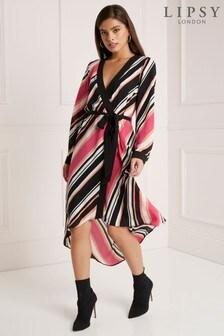 Kopertowa  sukienka Lipsy Petite w paski