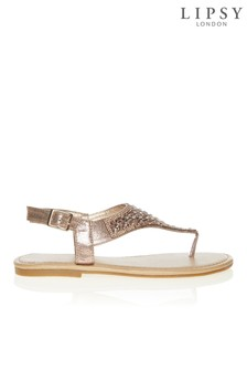 Lipsy Diamanté Flat Sandals
