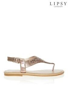 Lipsy Diamante Flat Sandals