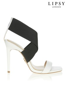 Lipsy Elastic Strap Heeled Sandals