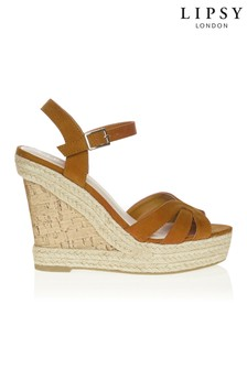 Lipsy Three Strap High Wedges