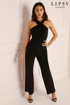 Lipsy Petite Cross Front Wide Leg Jumpsuit