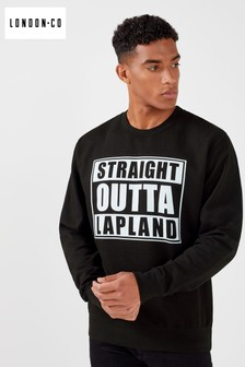 London Co Straight Outta Lapland Christmas Sweatshirt