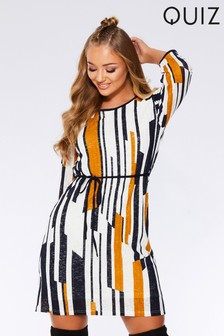 Quiz Stripe Knit Tunic Dress