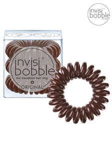Invisibobble Original Pretzel Brown Hair Ties 3 pack