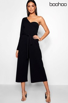 Boohoo One Sleeve Jumpsuit