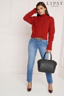 Lipsy Meghan Mid Rise Slim Leg Lift Shape Long Length Jean