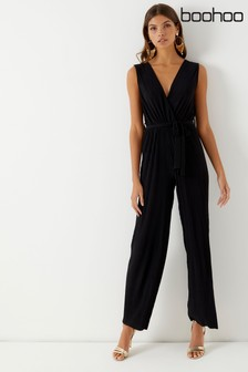 Boohoo Pleated Jumpsuit