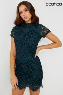 Boohoo Eyelash Lace Bodycon Dress