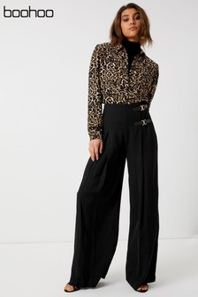 Boohoo Buckle Detail Trousers