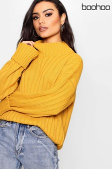 Pull oversize Boohoo à larges côtes