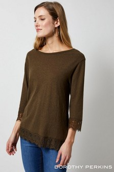Dorothy Perkins Lace Hem Top