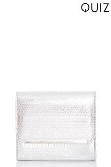 Quiz Glitter Snake Print Sling Bag