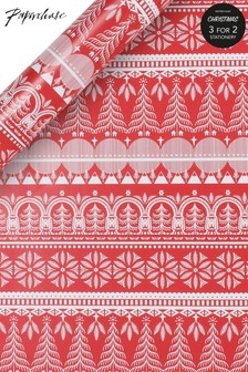 Paperchase 3m Scandi Christmas Wrapping Paper