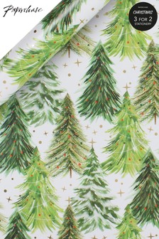 Paperchase Classic Christmas Tree 3m Roll Wrapping Paper
