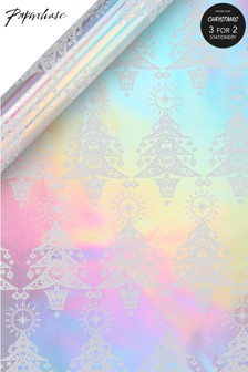 Paperchase Holographic Christmas Wrapping Paper