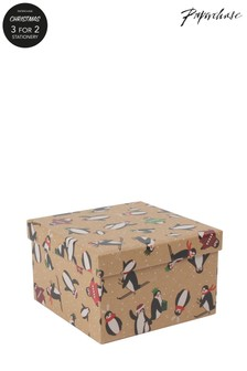 Paperchase Penguins Christmas Gift Box Small