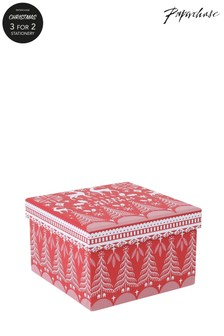 Paperchase Scandi Christmas Gift Box Small