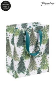 Paperchase Classic Medium Christmas Tree Gift Bag