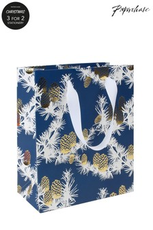Paperchase Medium Pine Cones Christmas Gift Bag