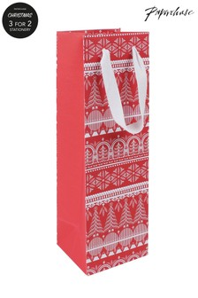 Paperchase Scandi Bottle Christmas Gift Bag