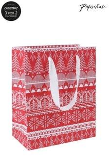 Paperchase Scandi Medium Christmas Gift Bag