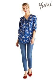 Yumi Floral Zip Blouse