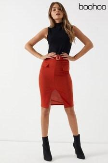 Boohoo Split Midi Skirt