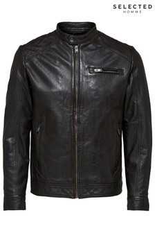 Selected Homme Biker Leather Jacket