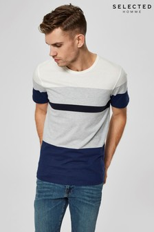 Selected Homme Colour Block Short Sleeve T-Shirt