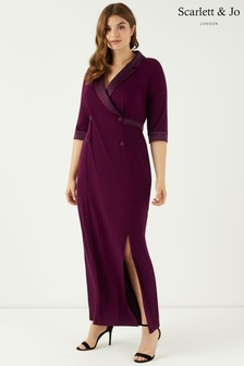 Robe longue Scarlett & Jo style smoking