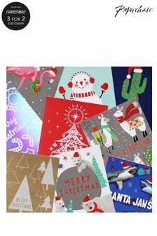 حزمة من 24 بطاقة عيد الميلاد صغيرة متنوعة من Paperchase