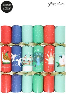 Paperchase Christmas Crackers - 12 Days