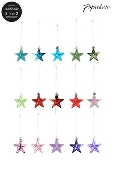 Paperchase 15 Rainbow Star Christmas Decorations