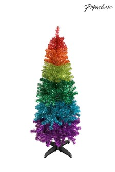 Paperchase 5ft Shiny Rainbow Christmas Tree