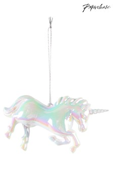 Paperchase Pearlised Unicorn Christmas Decoration