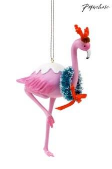 Paperchase Christmas Flamingo Wreath Decoration