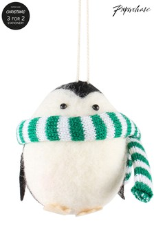 Paperchase Felt Scarf Penguin Christmas Decoration