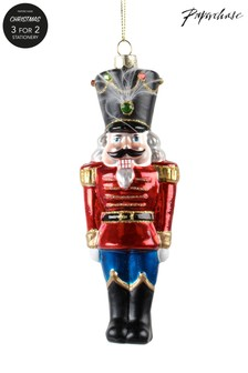 Paperchase Glass Traditional Nutcracker Christmas Decoration