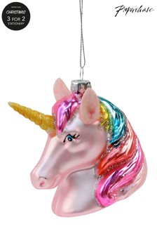 Decorațiune de Crăciun Paperchase Unicorn de sticlă