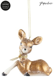 Paperchase Glitter Deer Christmas Decoration