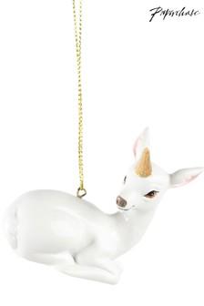 Paperchase Fawn Unicorn Horn Christmas Decoration