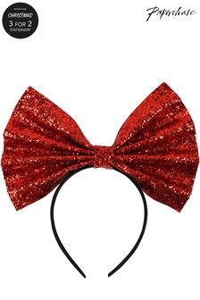 Paperchase Glitter Bow Band