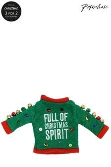 Paperchase Christmas Spirit Wine Bottle Jumper
