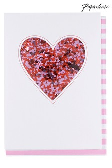 Paperchase Heart Confetti Birthday Card